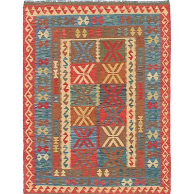 Hereke Flat-Woven Red Area Rug