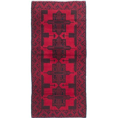 One-of-a-Kind Rizbaft Handmade Red Area Rug