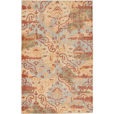 Jules Ushak Hand-knotted Blue/Red Area Rug