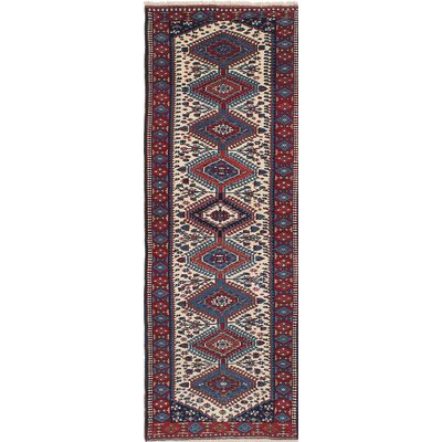 Yalameh Hand-Knotted Beige/Red Area Rug