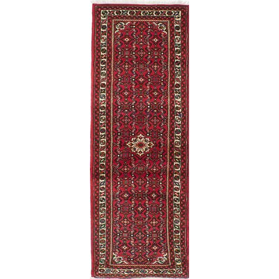 One-of-a-Kind Hosseinabad Hand-Knotted Red Area Rug