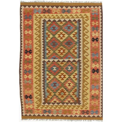 One-of-a-Kind Olmsted Handmade Wool Yellow / Orange Area Rug