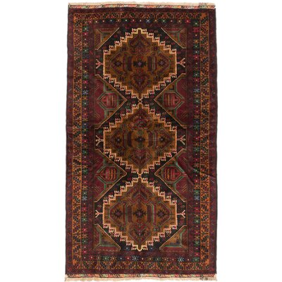 One-of-a-Kind Rizbaft Hand-Knotted Black / Brown Area Rug