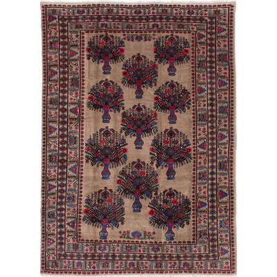 One-of-a-Kind Rizbaft Hand-Knotted Brown / Blue Area Rug