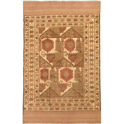 One-of-a-Kind Tajik Tribal Hand-Knotted Brown Area Rug