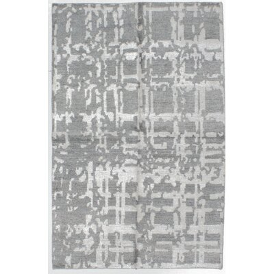 Jules Ushak Hand-Knotted Gray Area Rug