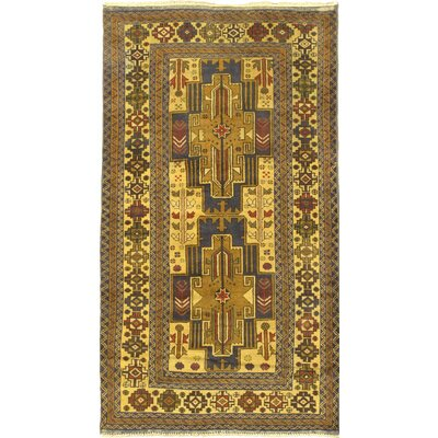 Rizbaft Hand-Knotted Yellow / Blue Area Rug