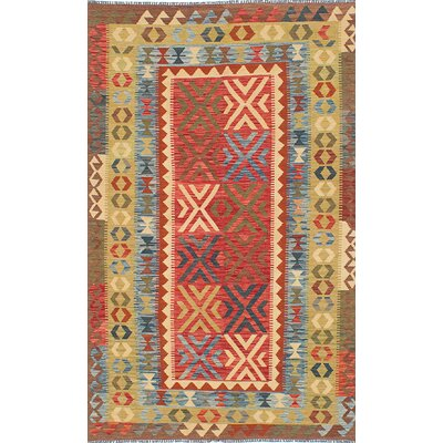 Hereke Kilim Flat-Woven Red Area Rug