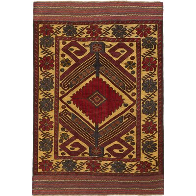 Tajik Tribal Hand-Knotted Red/Beige Area Rug