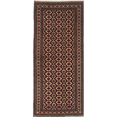 Rizbaft Hand-Knotted Red / Beige Area Rug