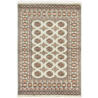 Peshawar Bokhara Hand-Knotted Beige / Brown Area Rug
