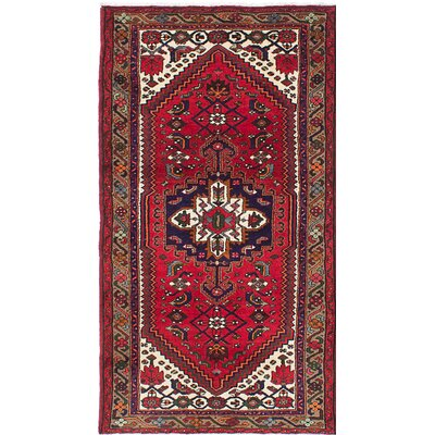 Anston Hand-Knotted Red Area Rug