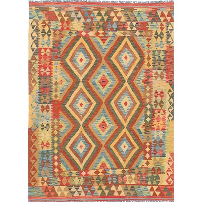 Sivas Flat Woven Yellow / Orange Area Rug