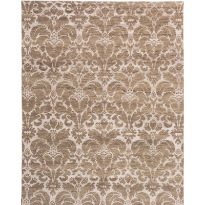 Healey Hand-Knotted Brown/Beige Area Rug