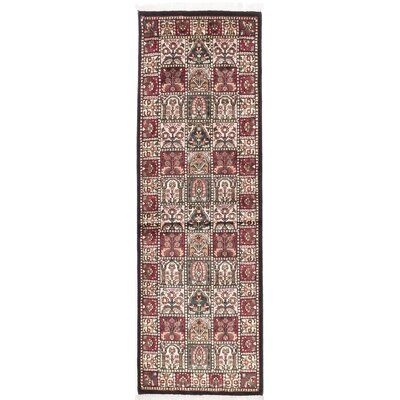 One-of-a-Kind Orangetree Traditional Hand-Knotted Silk Beige/Red Area Rug