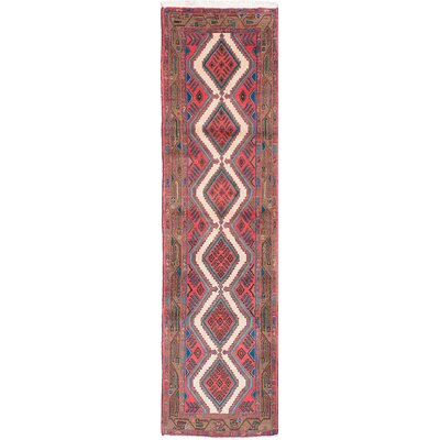 One-of-a-Kind Koliai Hand-Knotted Red Area Rug