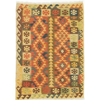 Kashkoli Flat-Woven Brown/Orange Area Rug