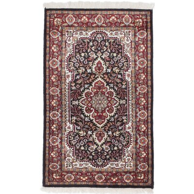 Kashmir Hand-Knotted Beige/Red Area Rug