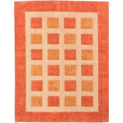 One-of-a-Kind Jones Street Hand-Knotted Orange/Beige Area Rug