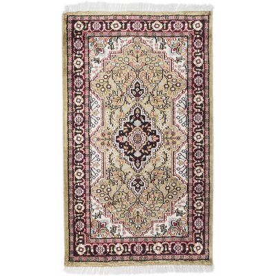 Kashmir Hand-Knotted Red/Beige Area Rug