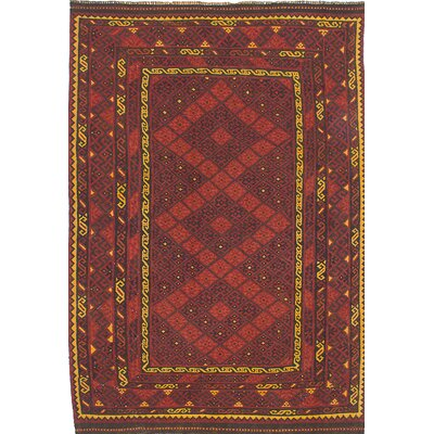 One-of-a-Kind Kashkuli Handmade Wool Red Area Rug