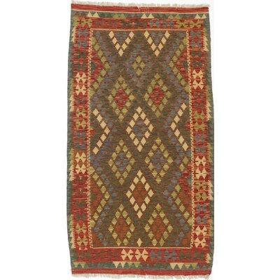 One-of-a-Kind Kashkoli Handmade Wool Green/Red Area Rug