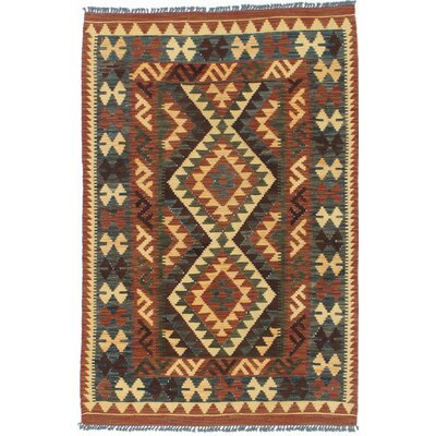 One-of-a-Kind Kashkoli Handmade Wool Brown/Blue Area Rug