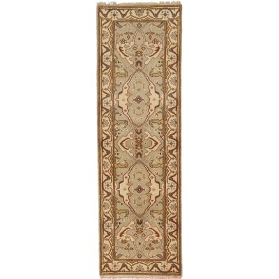 One-of-a-Kind Royal Ushak Handmade Brown Area Rug