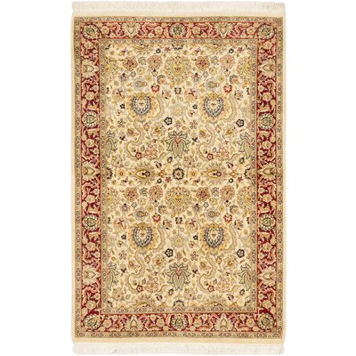 Pako Persian Handmade Neutral/ Red Area Rug
