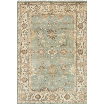 Royal Ushak Handmade Green Area Rug