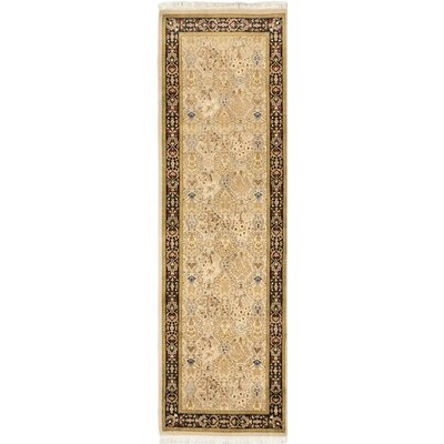 One-of-a-Kind Armistead Handmade Brown / Ivory Area Rug