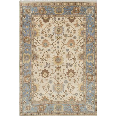 One-of-a-Kind Royal Ushak Handmade Blue / Ivory Area Rug
