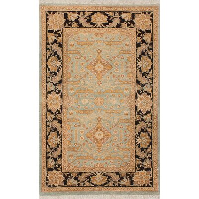 Pako Persian Hand-Knotted Beige/Black Area Rug