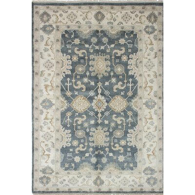 One-of-a-Kind Li Handmade Gray / Ivory Area Rug
