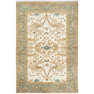 Royal Ushak Handmade Blue / Ivory Area Rug