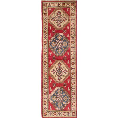 Gazni Hand-Knotted Beige/Red Area Rug