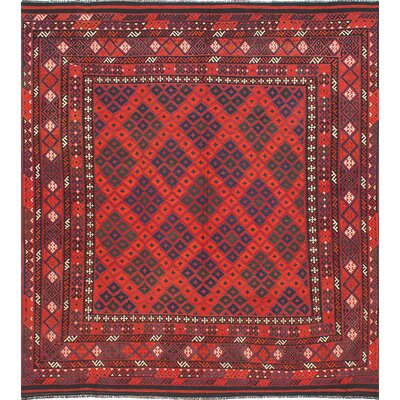Bruntons Handwoven Red Area Rug