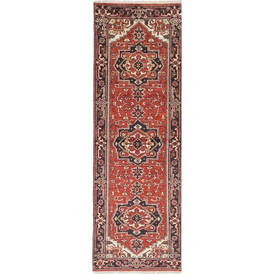 Serapi Heritage Hand-Knotted Red/Black Area Rug