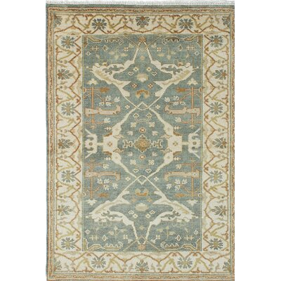 Royal Ushak Hand-Knotted Green/Beige Area Rug