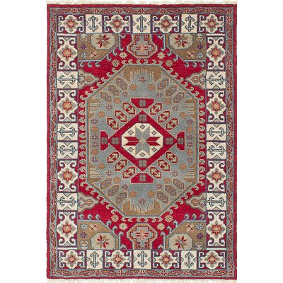 One-of-a-Kind Berkshire Hand-Knotted Beige/Red Area Rug