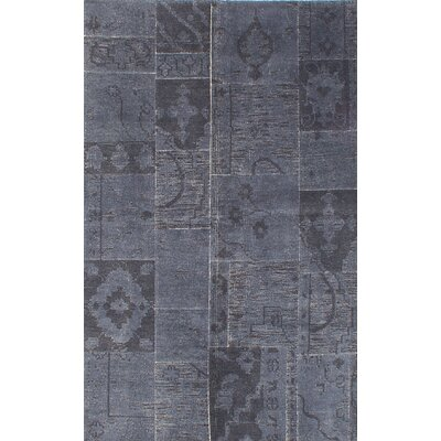 Deegan Vintage Hand-Knotted Gray Area Rug
