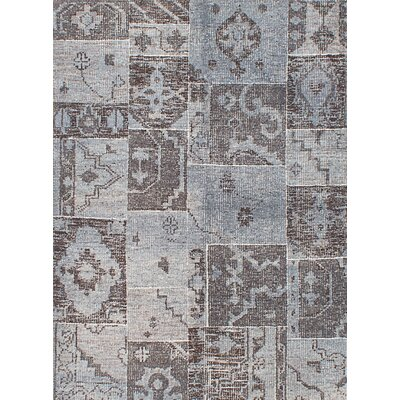 Herbal Vintage Hand-Knotted Gray Area Rug