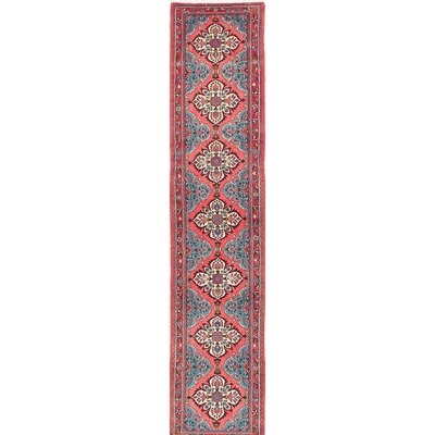 One-of-a-Kind Roodbar Hand-Knotted Pink/Blue Area Rug