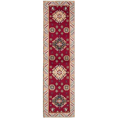 Berkshire Hand-Knotted Red/Beige Area Rug