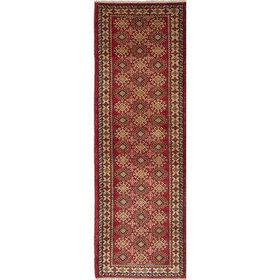 One-of-a-Kind Gazni Hand-Knotted Red/Beige Area Rug