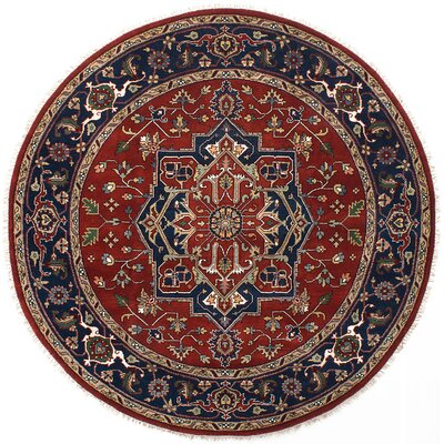 Serapi Heritage Hand-Knotted Red/Blue Area Rug