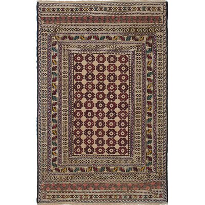 Mcdonell Handmade Beige/Red Area Rug