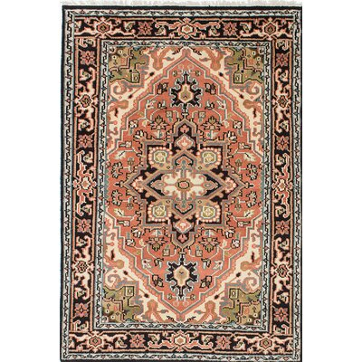 Bovell Hand-Knotted Beige/Black Area Rug