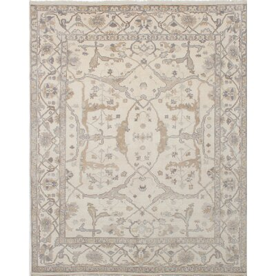 Royal Ushak Hand-Knotted Beige Area Rug