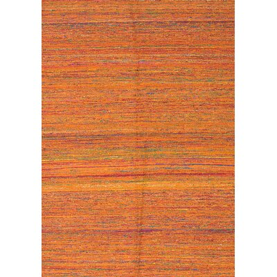 Sari Handmade Orange Area Rug